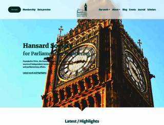 hansardsociety.org.uk screenshot