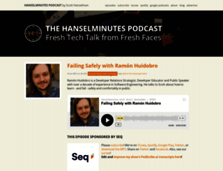hanselminutes.com screenshot
