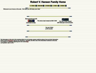 hansen-family.com screenshot