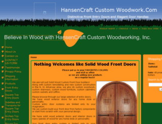 hansencraftcustomwoodwork.com screenshot