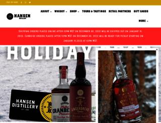 hansendistillery.com screenshot