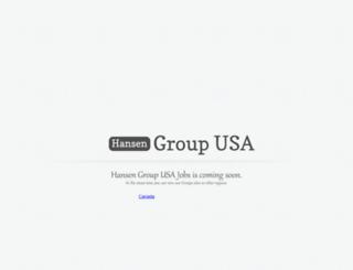hansenjobs.com screenshot
