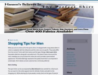 hansensclothing.wordpress.com screenshot