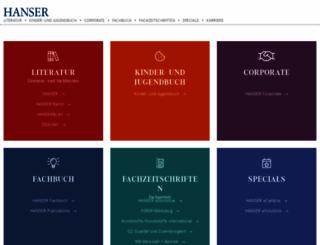 hanser.de screenshot