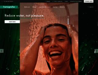 hansgrohe-int.com screenshot