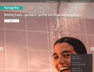 hansgrohe.cz screenshot
