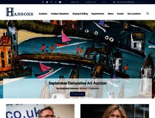 hansonsauctioneers.co.uk screenshot