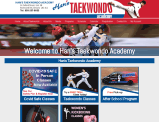 hanstaekwondo.ca screenshot
