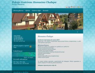 hanusina-chalupa.wczasywpolsce.pl screenshot
