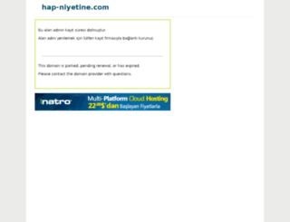 hap-niyetine.com screenshot