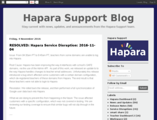 hapara-support.blogspot.com screenshot