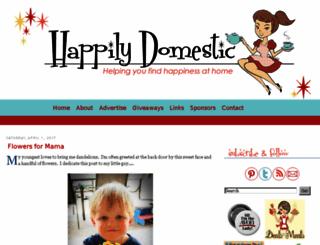happilydomestic.blogspot.com screenshot