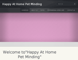 happy-at-home-pet-minding.com screenshot