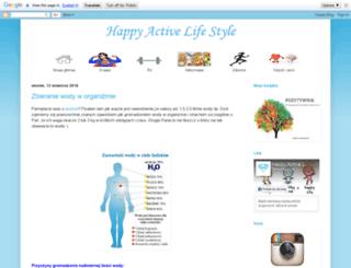 happyactivelifestyle.blogspot.com screenshot