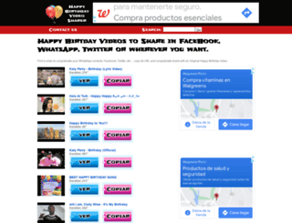happybirthdayvideo.net screenshot