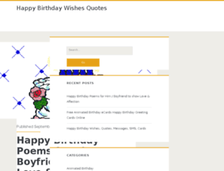 happybirthdaywishesquotes.com screenshot