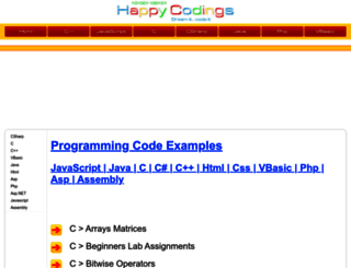 happycodings.com screenshot