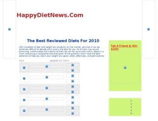 happydietnews.com screenshot