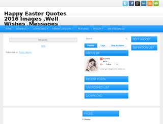 happyeasterquotes.com screenshot