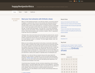 happyfeetpedorthics.wordpress.com screenshot