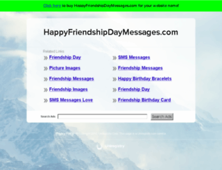 happyfriendshipdaymessages.com screenshot