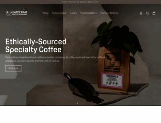 happygoatcoffee.com screenshot
