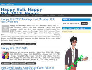 happyholi-2013.in screenshot