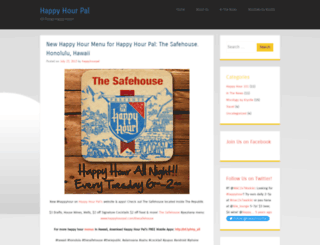 happyhourpal.wordpress.com screenshot