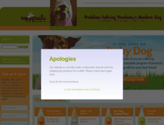 happytailsspa.com screenshot