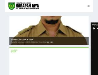 harapanjaya.desa.id screenshot