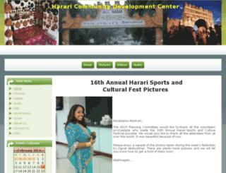hararicommunitycenter.org screenshot