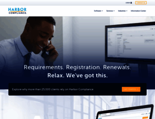 harborcompliance.com screenshot