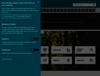 harborough.gov.uk screenshot