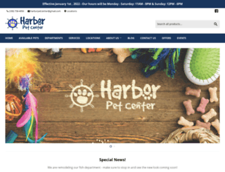 harborpetcenter.com screenshot