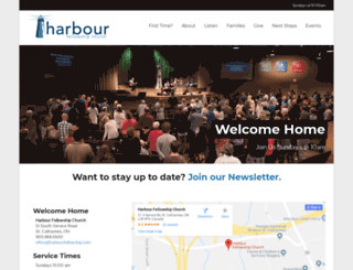 harbourfellowship.com screenshot