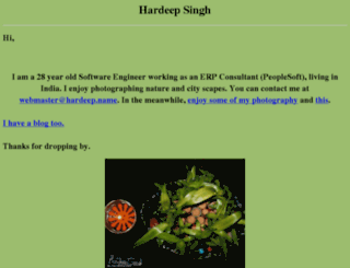 hardeep.name screenshot
