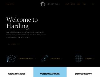harding.edu screenshot