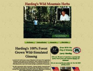 hardingsginsengfarm.com screenshot