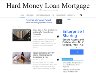 hardmoneyloanmortgage.com screenshot