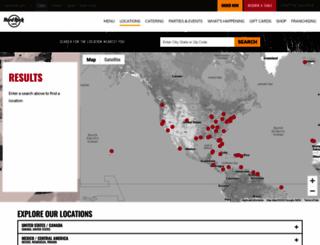 hardrockcafe.no screenshot