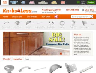 hardware.knobs4less.com screenshot