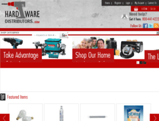 hardwaredistributors.com screenshot