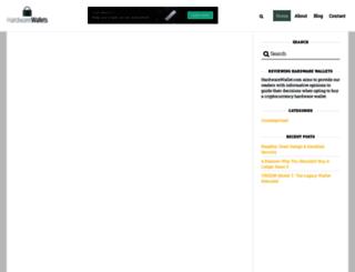 hardwarewallets.com screenshot