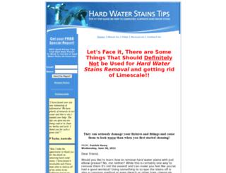 hardwaterstainstips.com screenshot