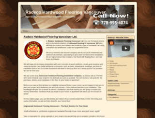 hardwoodflooringvancouver.ca screenshot