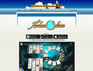 hardwoodsolitaire.com screenshot