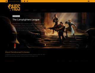 harebrained-schemes.com screenshot
