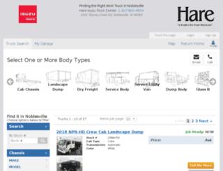 hareisuzu.worktrucksolutions.com screenshot