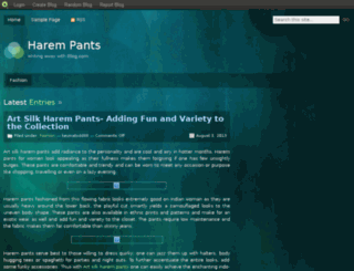 harempants.blog.com screenshot