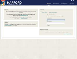 harfordcc.blackboard.com screenshot